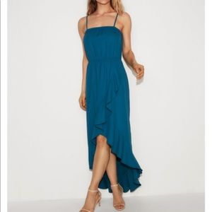 Ruffle wrap maxi dress